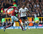 Tottenham's Danny Rose tussles with West Ham's Cheikhou Kouyate <br /> <br /> Barclays Premier League - Tottenham Hotspur  vs West Ham  - White Hart Lane - England - 22nd February 2015 - Picture David Klein/Sportimage