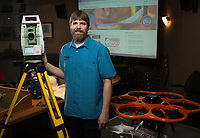 UAA Alum Brad Watts, Professional Land Surveyor at CRW Engineering Group.