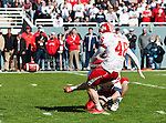 Houston Cougars kicker Matt Hogan (46) in action during the Ticket City Bowl game between the Penn State Nittany Lions and the University of Houston Cougars, played at the Cotton Bowl Stadium in Dallas, Texas. Houston defeats Penn State 30 to 14.