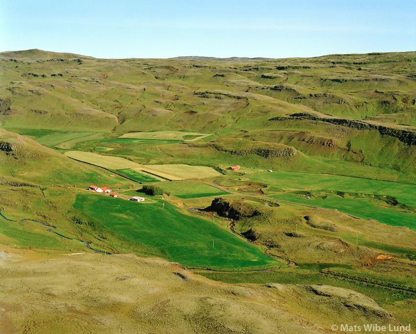 Laugar séð til norðurs, Hrunamannahreppur / Laugar viewing north, Hrunamannahreppur