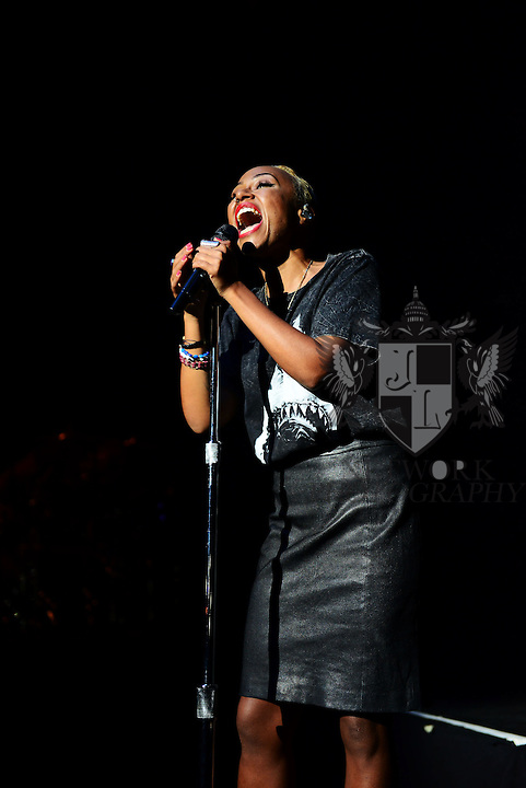 MIAMI BEACH, FL - OCTOBER 11: Emeli Sandé performs at Fillmore Miami Beach at Jackie Gleason Theater on October 11, 2013 in Miami Beach, Florida. (Photo by Johnny Louis/jlnphotography.com)