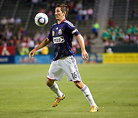 CD Chivas USA forward Sacha Kljestan (16) with eyes on the ball. The Houston Dynamo defeated CD Chivas USA 2-0 at Home Depot Center stadium in Carson, California on Saturday May 8, 2010.  .