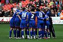 Stevenage huddle at the final whistle. - Sheffield United v Stevenage - npower League 1 - Bramall Lane, Sheffield  - 28th April, 2012. © Kevin Coleman 2012