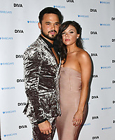 Gareth Gates, Faye Brookes at the DIVA Magazine Awards - Lesbian and bisexual magazine hosts annual awards ceremony at Waldorf Hilton, London, 8th June 2018, England, UK.<br /> CAP/JOR<br /> &copy;JOR/Capital Pictures