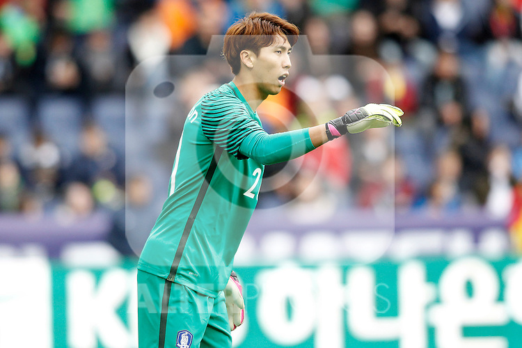 South Korea's Jinhyeon Kim during friendly match. June 1,2016.(ALTERPHOTOS/Acero)