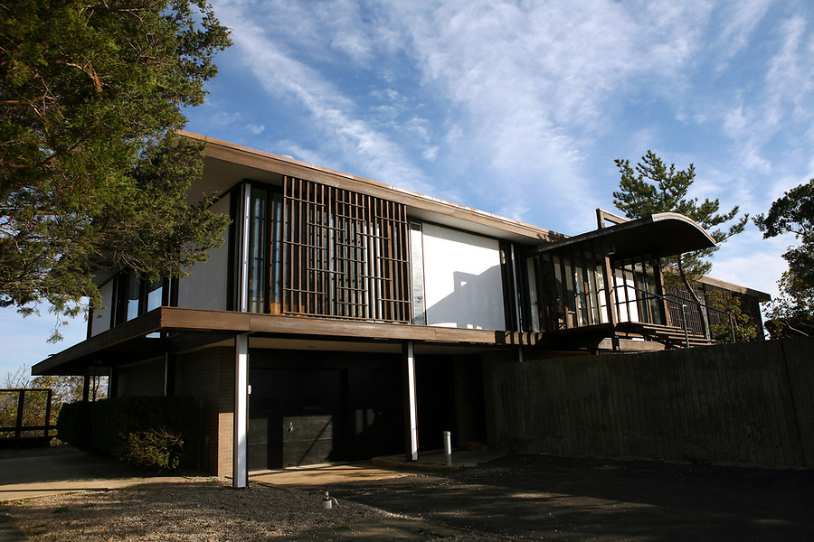 The exterior of the Murchison home designed by pioneering modernist, Walter Gropius.  The home, which is located in Provincetown, MA, is soon to be on the market for the first time since it was built in the 1950s.  10/29/07 Julia Cumes