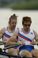 Poznan, POLAND.  2006, FISA, Rowing, World Cup,  SLO M2X bow  Luka SPIK and Iztok COP, moves  away from  the  start, on the Malta  Lake. Regatta Course, Poznan, Thurs. 15.05.2006. © Peter Spurrier   .[Mandatory Credit Peter Spurrier/ Intersport Images] Rowing Course:Malta Rowing Course, Poznan, POLAND