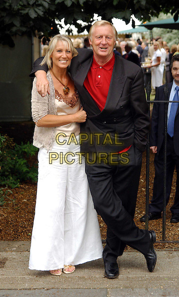 CHRIS TARRANT & WIFE LUCY.David Frost's summer party.sales@capitalpictures.com.www.capitalpictures.com.©Capital Pictures.full length, full-length