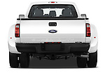 Straight rear view of a 2011 Ford F450 Crew Cab