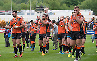 Picture by Allan McKenzie/SWpix.com - 13/05/2017 - Rugby League - Ladbrokes Challenge Cup - Castleford Tigers v St Helens - The Mend A Hose Jungle, Castleford, England - Castleford celebrate their victoruy overf St Helens in the Ladbrokes Challenge Cup.