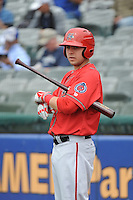 Harrisburg Senators infielder Matt Skole (10) during the game against the Trenton Thunder at ARM & HAMMER Park on May 21, 2014 in Trenton, New Jersey.  Harrisburg defeated Trenton 9-0.  (Tomasso DeRosa/Four Seam Images)