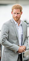 Prince Harry, The Duke of Sussex at the bank of the River Liffey in Dublin, on July 11, 2018, at the Famine Memorial on the last of a 2 days visit to Dublin  <br /> Photo : Albert Nieboer / /DPA /MediaPunch ***FOR USA ONLY***