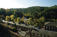 The UNESCO World Heritage Site at New Lanark on the banks of the River Clyde, Clyde Valley, South Lanarkshire<br /> <br /> Copyright www.scottishhorizons.co.uk/Keith Fergus 2011 All Rights Reserved