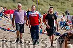 Sonny Foran, Risteárd Ó Fuaráin and Richie Stack at Ballyheigue beach on Wednesday.