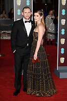 Jamie Bell and Kate Mara<br /> arriving for the BAFTA Film Awards 2018 at the Royal Albert Hall, London<br /> <br /> <br /> ©Ash Knotek  D3381  18/02/2018