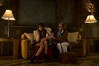 Hotel Artemis (2018) <br /> Sofia Boutella &amp; Jodie Foster  <br /> *Filmstill - Editorial Use Only*<br /> CAP/MFS<br /> Image supplied by Capital Pictures