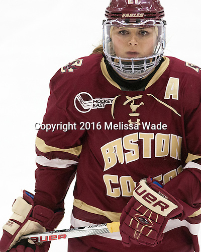Lexi Bender (BC - 21) - The visiting Boston College Eagles defeated the Harvard University Crimson 2-0 on Tuesday, January 19, 2016, at Bright-Landry Hockey Center in Boston, Massachusetts.