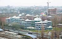 Nederland - Amsterdam - 24 maart 2018. Kantoorkolos Tripolis van de architect Ald van Eyck. Het kantoor is gebouwd in de jaren negentig. Het gebouw staat nu voor een groot gedeelte leeg. Foto Berlinda van Dam / Hollandse Hoogte.
