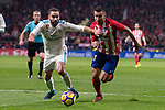 Atletico de Madrid Angel Martin Correa and Real Madrid Daniel Carvajal during La Liga match between Atletico de Madrid and Real Madrid at Wanda Metropolitano in Madrid, Spain. November 18, 2017. (ALTERPHOTOS/Borja B.Hojas)