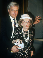 Robert Osborne, Bette Davis, 1987, Photo By Michael Ferguson/PHOTOlink