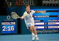 Richard Gasquet (FRA) against Marcus Baghdatis (CYP) against  in the Final of the Mens Singles. Baghdatis beat Gasquet 6-4 7-6 (2)..International Tennis - Medibank International Sydney - Sat 16 Jan 2010 - Sydney Olympic Park  Tennis Centre- Sydney - Australia ..© Frey - AMN Images, 1st Floor, Barry House, 20-22 Worple Road, London, SW19 4DH.Tel - +44 20 8947 0100.mfrey@advantagemedianet.com