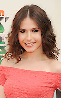 LOS ANGELES, CA - MARCH 31: Erin Sanders arrives at the 2012 Nickelodeon Kids' Choice Awards at Galen Center on March 31, 2012 in Los Angeles, California.