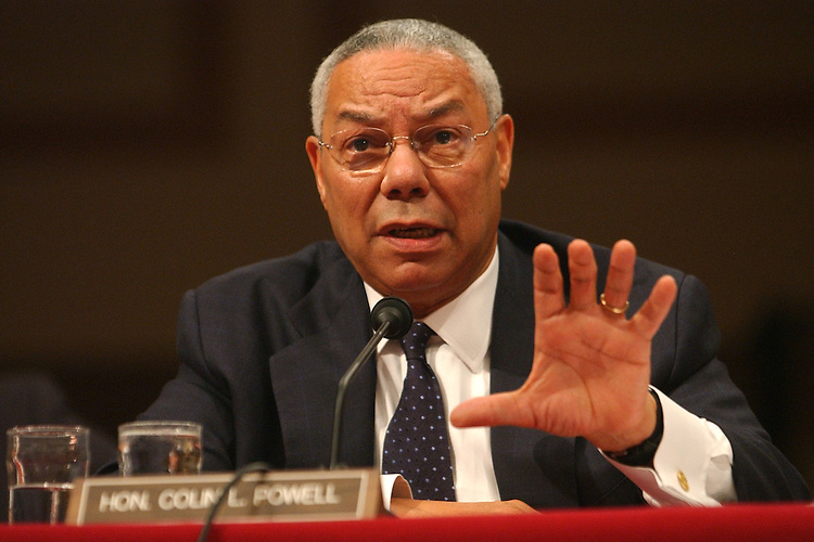 "Secretary of State Colin Powell testifies before the Senate Foreign Relations Committee hearing, ""The Current Situation in Sudan and the Prospects for Peace."""