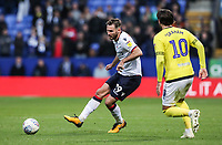 Bolton Wanderers' Jonathan Grounds under pressure from Blackburn Rovers' Danny Graham<br /> <br /> Photographer Andrew Kearns/CameraSport<br /> <br /> The EFL Sky Bet Championship - Bolton Wanderers v Blackburn Rovers - Saturday 6th October 2018 - University of Bolton Stadium - Bolton<br /> <br /> World Copyright © 2018 CameraSport. All rights reserved. 43 Linden Ave. Countesthorpe. Leicester. England. LE8 5PG - Tel: +44 (0) 116 277 4147 - admin@camerasport.com - www.camerasport.com