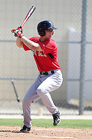 Boston Red Sox outfielder Cody Koback #40 during an Instructional League game against the Minnesota Twins at Red Sox Minor League Training Complex in Fort Myers, Florida;  October 3, 2011.  (Mike Janes/Four Seam Images)