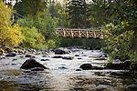 The footbridge over Rattlesnake Creek in the Linconwood area of Missoula, Montana