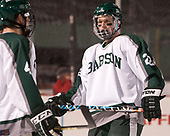 Matt Brazel (Babson - 22) - The UMass Boston Beacons defeated the Babson College Beavers 5-1 on Thursday, January 12, 2017, at Fenway Park in Boston, Massachusetts.