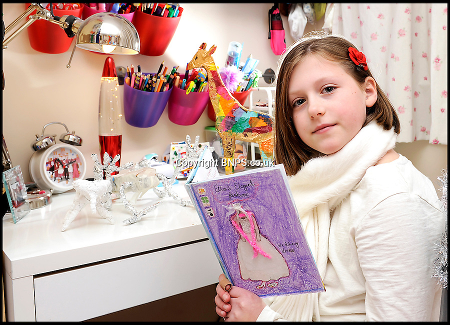 BNPS.co.uk (01202) 558833<br /> Picture: LauraJones/BNPS<br /> <br /> No hugs for brave Ella this Xmas...<br /> <br /> Ella Murphy (11) from Langport, Somerset who has complex regional pain syndrome. She likes to keep busy with arts and crafts and reading.<br /> <br /> Little Ella Murphy might look like a happy child but she is actually battling a rare condition that leaves her in such agony she can't cuddle her mother.<br /> <br /> Ella suffers from a neurological disease called Complex Regional Pain Disorder (CPRS) which affects one in 4,000 people per year.<br /> <br /> The condition means the schoolgirl is struck down by agonising pain in different parts of her body that can last for months at a time.<br /> <br /> Even the slightest touch of the tender area can cause a horrendous burning sensation, meaning her family cannot even hug her if her upper body is affected.