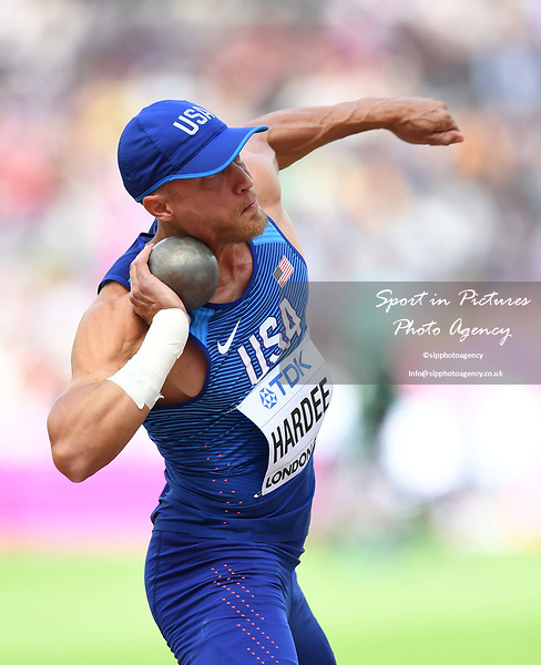 Trey HARDEE (USA) in the mens decathlon shot put. IAAF world athletics championships. London Olympic stadium. Queen Elizabeth Olympic park. Stratford. London. UK. 11/08/2017. ~ MANDATORY CREDIT Garry Bowden/SIPPA - NO UNAUTHORISED USE - +44 7837 394578