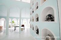 The Caribbean, Anguilla. The newly renovated Malliouhana Hotel and Spa lobby.