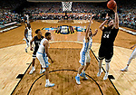 GLENDALE, AZ - APRIL 03: Przemek Karnowski #24 of the Gonzaga Bulldogs shoots a jumper during the 2017 NCAA Men's Final Four National Championship game against the North Carolina Tar Heels at University of Phoenix Stadium on April 3, 2017 in Glendale, Arizona.  (Photo by Chris Steppig/NCAA Photos via Getty Images)