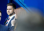 Harry Forrester standing at the tunnel watching the build-up