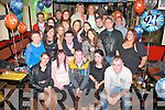 Darren O'Callaghan, Ballyrickard, Tralee (seated centre) had a great bash celebrating his 21st birthday last Friday night in Turners bar, Tralee surrounded by many friends and family.