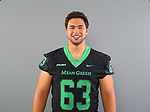 DENTON, TX - AUGUST 06: Mean Green Football head shots at Apogee Stadium in Denton on August 6, 2018 in Denton, Texas. (Photo by Rick Yeatts)