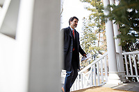 PrimeMinister Trudeau speaks with media outside of Rideau Cottage during his ongoing self-isolation. March 25, 2020.