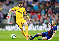 FC Barcelona's Andres Iniesta (r) and Atletico de Madrid's Saul Niguez during La Liga match. March 4,2018. (ALTERPHOTOS/Acero) /NortePhoto.com NORTEPHOTOMEXICO