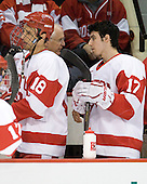 Wade Megan (BU - 18), Matt Nieto (BU - 17) - The Boston University Terriers defeated the visiting Providence College Friars 2-1 on Saturday, October 23, 2010, at Agganis Arena in Boston, Massachusetts.