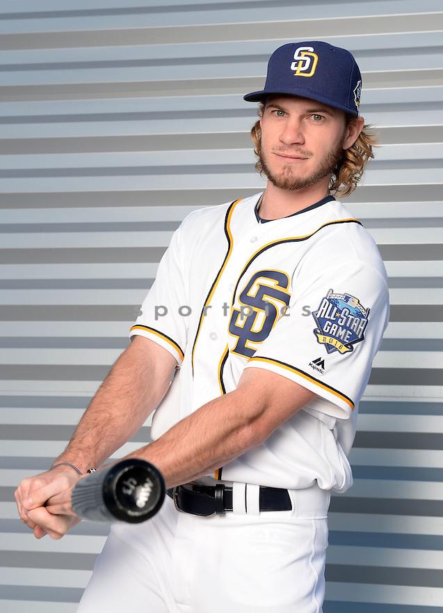 San Diego Padres Travis Jankowski (16) during photo day on February 26, 2016 in Peoria, AZ.