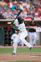 Hector Vargas (7) of the Dayton Dragons at bat against the West Michigan Whitecaps at Fifth Third Field on May 29, 2017 in Dayton, Ohio.  The Dragons defeated the Whitecaps 4-2.  (Brian Westerholt/Four Seam Images)