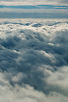 Mixed skies showing altocumulus and cumulostratus clouds