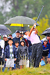 28 August 2009: Ryuji Imada hits his second shot out of the rough on the 18th hole during the second round of The Barclays PGA Playoffs at Liberty National Golf Course in Jersey City, New Jersey.