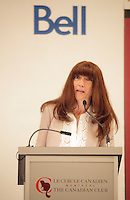 Montreal (Qc) CANADA -  Anna Martini FCA, President of Groupe Dynamite Inc., at the Canadian Club of Montreal's podium