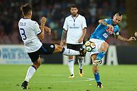 Rafael Toloi Atalanta e Marek Hamsik Napoli<br /> Napoli 27-08-2017  Stadio San Paolo <br /> Football Campionato Serie A 2017/2018 <br /> Napoli - Atalanta<br /> Foto Cesare Purini / Insidefoto
