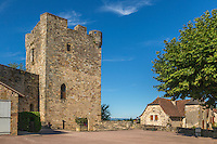 France, Lot, (46),   Capdenac-le-Haut, labellisé Les Plus Beaux Villages de France, Le Donjon // France, Lot, Capdenac-le-Haut  Capdenac le Haut, labelled Les Plus Beaux Villages de France (The Most Beautiful Villages of France), , the tower of the medieval fortress