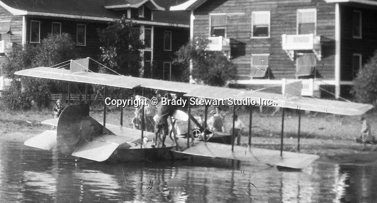 Presque Isle PA:  Mail delivery by a Canadian Vickers seaplane - 1927.  Stewart family was on vacation at Lake Erie's Presque Isle in the summer of 1927.