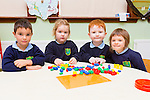 Darra Nagle, Millie Lawlor, Ben O'Brien and Molly McCormack enjoying school in St Joseph's NS Castlemaine on Wednesday